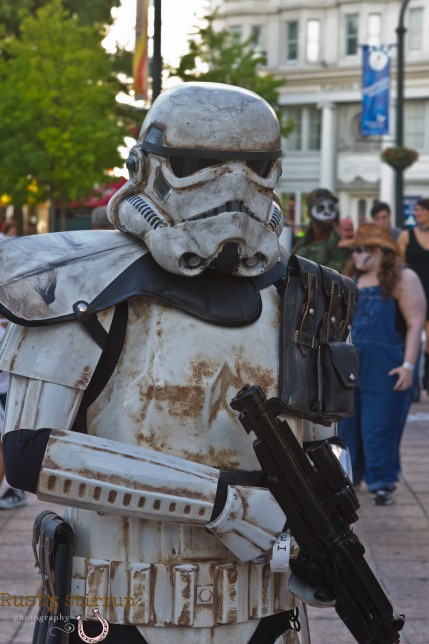 Storm Trooper-He dirtied his outfit himself-wow.....